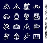 travel web icons.  vacation and ... | Shutterstock .eps vector #578923003