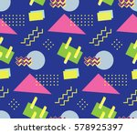 90's style seamless pattern | Shutterstock .eps vector #578925397
