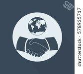 handshake vector illustration.... | Shutterstock .eps vector #578935717