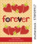 love card design. vector... | Shutterstock .eps vector #578939917