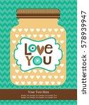 love card design. vector... | Shutterstock .eps vector #578939947