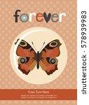 love card design. vector... | Shutterstock .eps vector #578939983