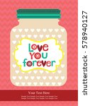 love card design. vector... | Shutterstock .eps vector #578940127
