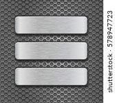 metal rectangle plates on... | Shutterstock .eps vector #578947723
