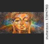 head of lord buddha digital art ... | Shutterstock . vector #578947903
