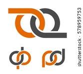 abstract infinity eight emblem... | Shutterstock .eps vector #578959753
