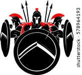 spartan army illustration | Shutterstock .eps vector #578964193