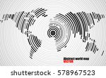 abstract world map of radial... | Shutterstock .eps vector #578967523
