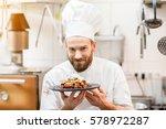 portrait of chef cook in... | Shutterstock . vector #578972287