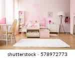multifunctional girl room with... | Shutterstock . vector #578972773