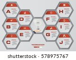 design 10 steps presentation... | Shutterstock .eps vector #578975767