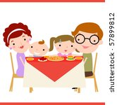 family dinner | Shutterstock .eps vector #57899812