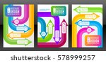 vector flyer template design... | Shutterstock .eps vector #578999257
