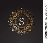 luxury gold monogram. vintage... | Shutterstock .eps vector #579011077