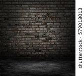 dark room with tile floor and... | Shutterstock . vector #579018013