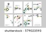 memphis geometric background... | Shutterstock .eps vector #579023593