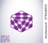 toy cube vector icon. web stock ... | Shutterstock .eps vector #579028993