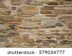 Stone Wall Build In Field In...
