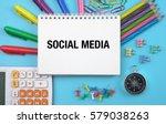 social media concept on... | Shutterstock . vector #579038263