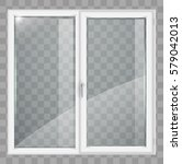 modern white plastic wide... | Shutterstock .eps vector #579042013