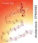 abstract musical background ... | Shutterstock .eps vector #57904585