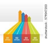 arrows roads infographic... | Shutterstock .eps vector #579047203