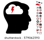 brainstorming icon with bonus... | Shutterstock .eps vector #579062593