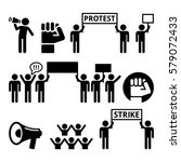 protest  strike  people... | Shutterstock .eps vector #579072433