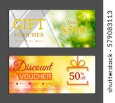 gift voucher template. can be... | Shutterstock .eps vector #579083113