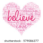 believe word cloud on a white... | Shutterstock .eps vector #579086377