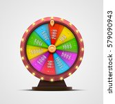 colorful fortune wheel.... | Shutterstock .eps vector #579090943