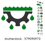 water gear drops pictograph... | Shutterstock .eps vector #579090973
