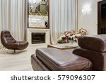 view of stylish living room... | Shutterstock . vector #579096307