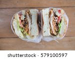 sandwich to go  | Shutterstock . vector #579100597