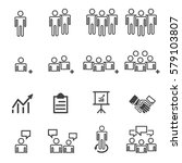 business people team icons .... | Shutterstock .eps vector #579103807