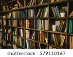 background is a large book... | Shutterstock . vector #579110167
