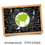 the business concept. hand... | Shutterstock .eps vector #579115363