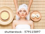 beautiful  young and healthy...   Shutterstock . vector #579115897
