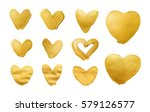 set of shining hearts for you... | Shutterstock . vector #579126577