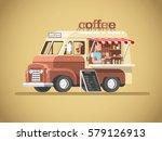 street coffee van. fast... | Shutterstock .eps vector #579126913