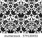 hungarian folk art seamless...   Shutterstock .eps vector #579130453