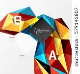3d polygonal object triangles ... | Shutterstock .eps vector #579142807