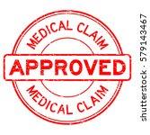 grunge red medical claim... | Shutterstock .eps vector #579143467