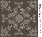 monochrome elegant ornament.... | Shutterstock .eps vector #579152287