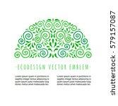 ecology style flourish emblem....