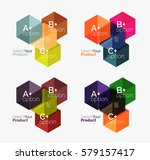 set of infographic templates... | Shutterstock .eps vector #579157417