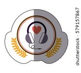 symbol headphone icon image ... | Shutterstock .eps vector #579157867
