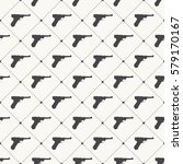 guns pattern. endless... | Shutterstock .eps vector #579170167