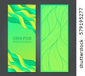 set vertical banners with... | Shutterstock .eps vector #579195277
