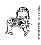 man with camera   retro clip art | Shutterstock .eps vector #57919582